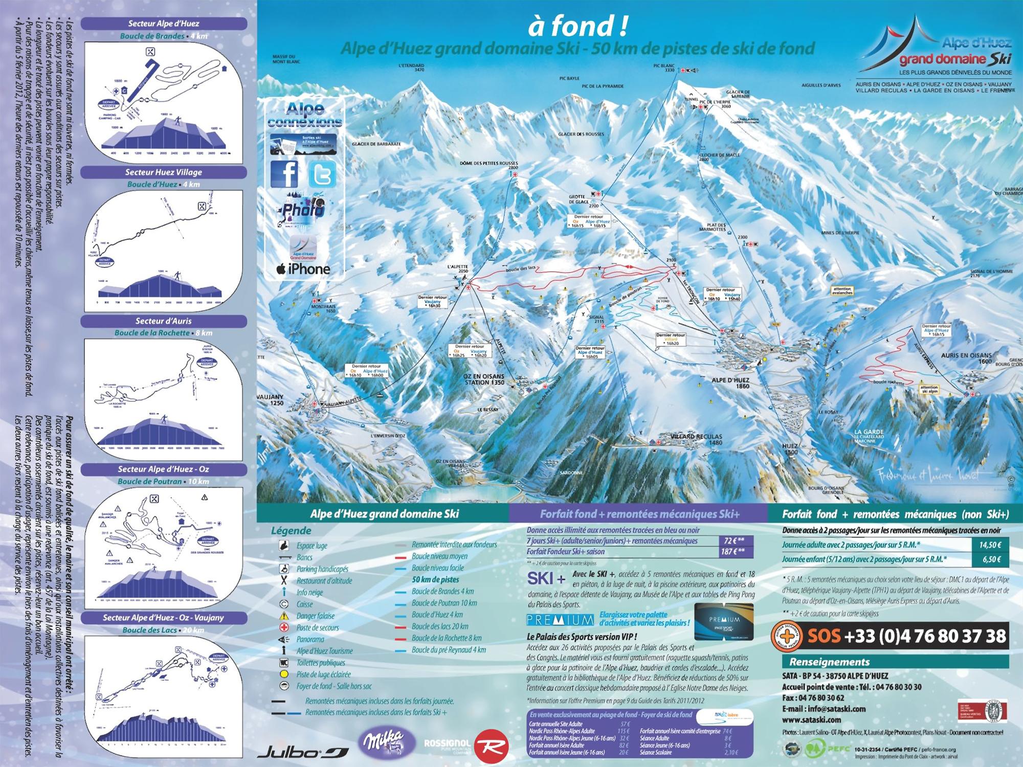 Ski area Alpe dHuez