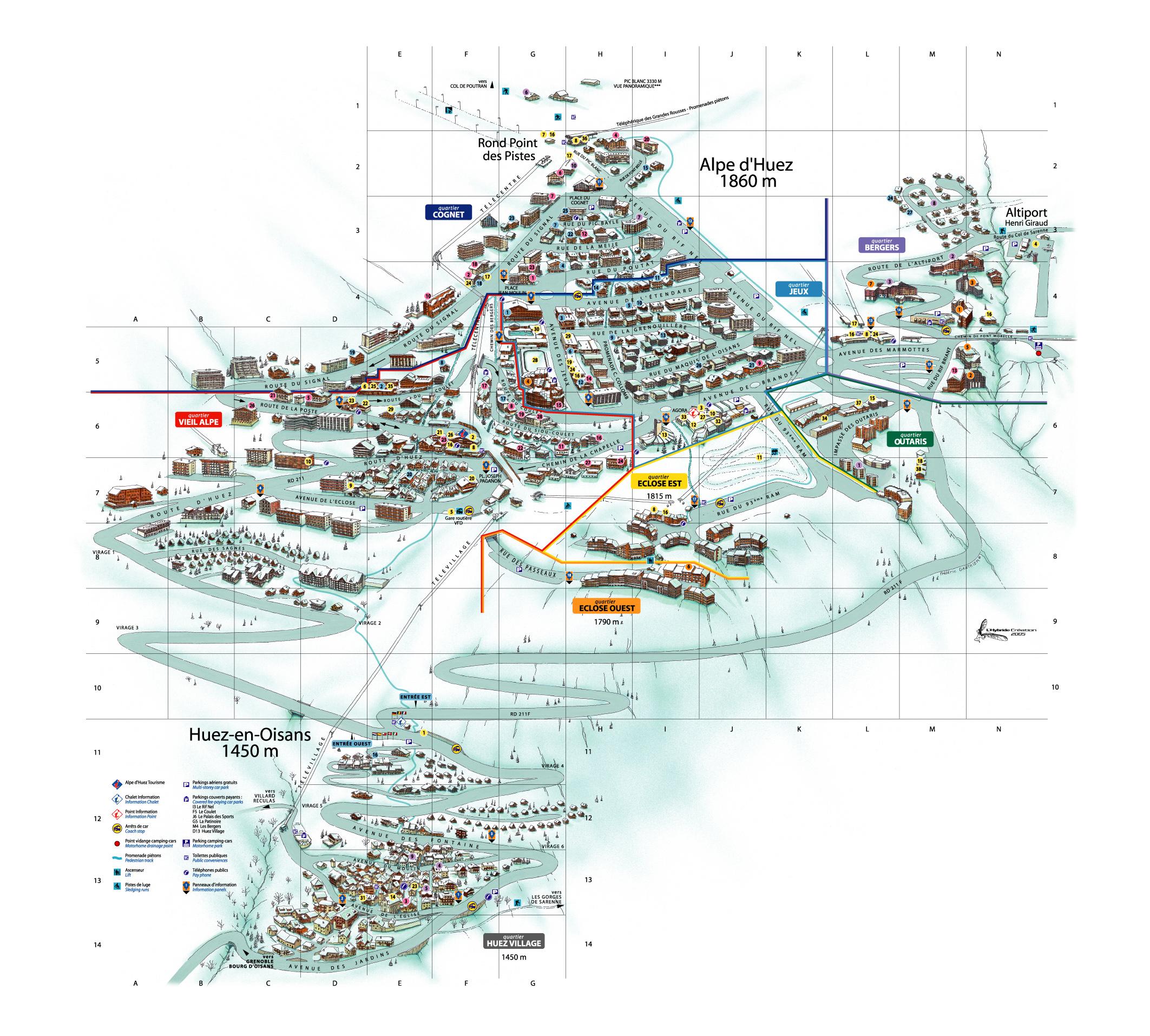Plan d'accès Alpe d'Huez