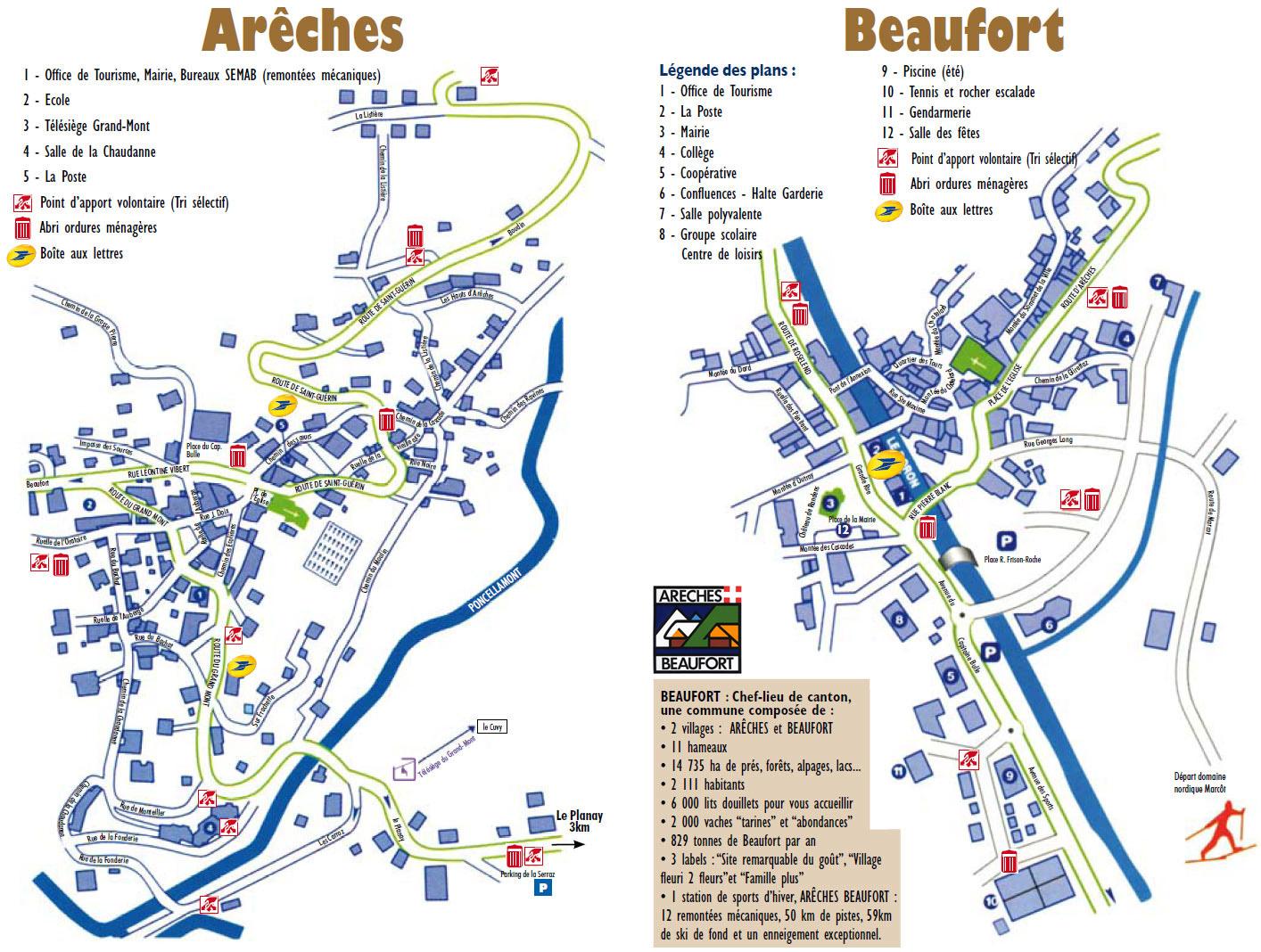 Plan d'accès Arêches-Beaufort