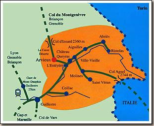 Plan d'accès Arvieux en Queyras