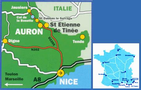 Plan d'accès Auron