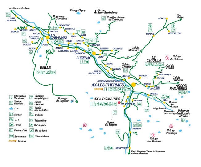 Plan d'accès Ax-Les-Thermes