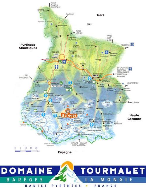 Plan d'accès Barèges/La Mongie