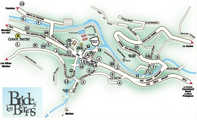 Plan d'accès Brides Les Bains