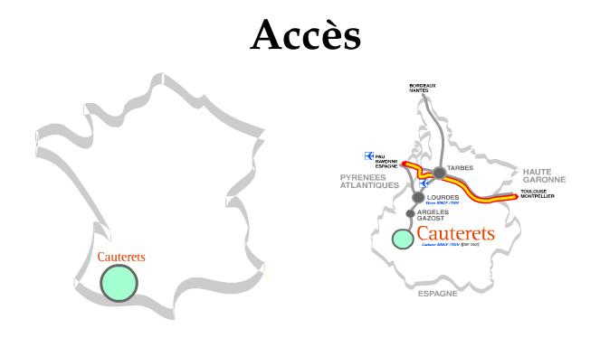 Plan d'accès Cauterets