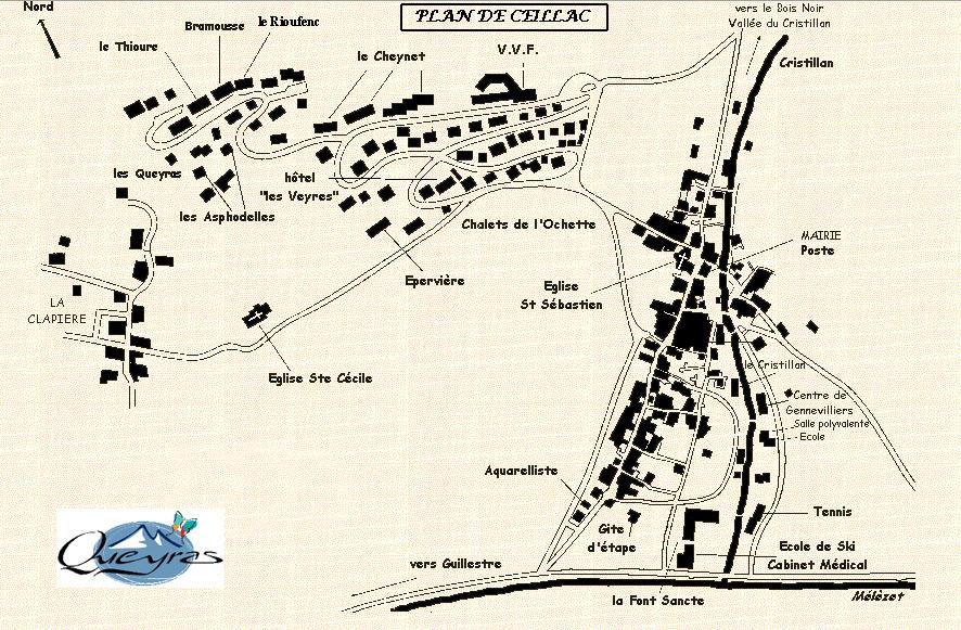 Plan d'accès Ceillac en Queyras