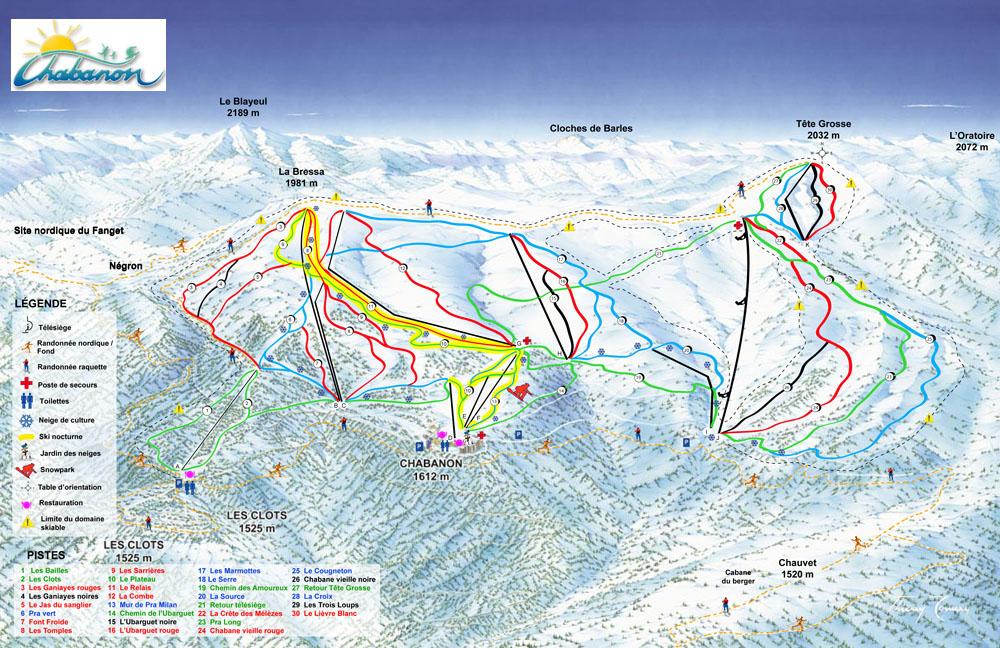 location ski chabanon