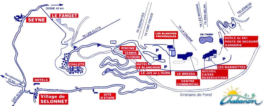 Plan d'accès Chabanon-Selonnet