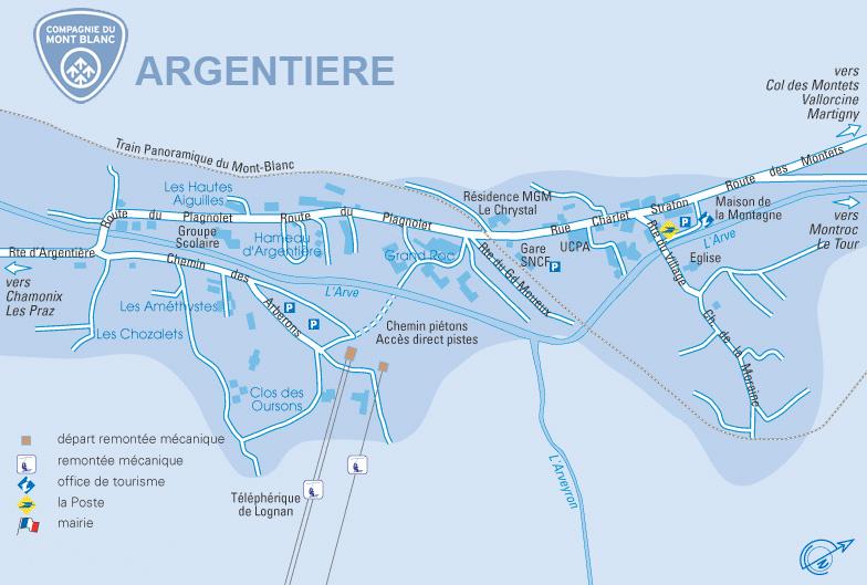 Plan d'accès Chamonix