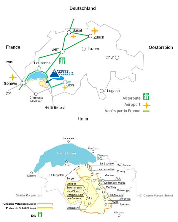 Plan d'accès Champéry