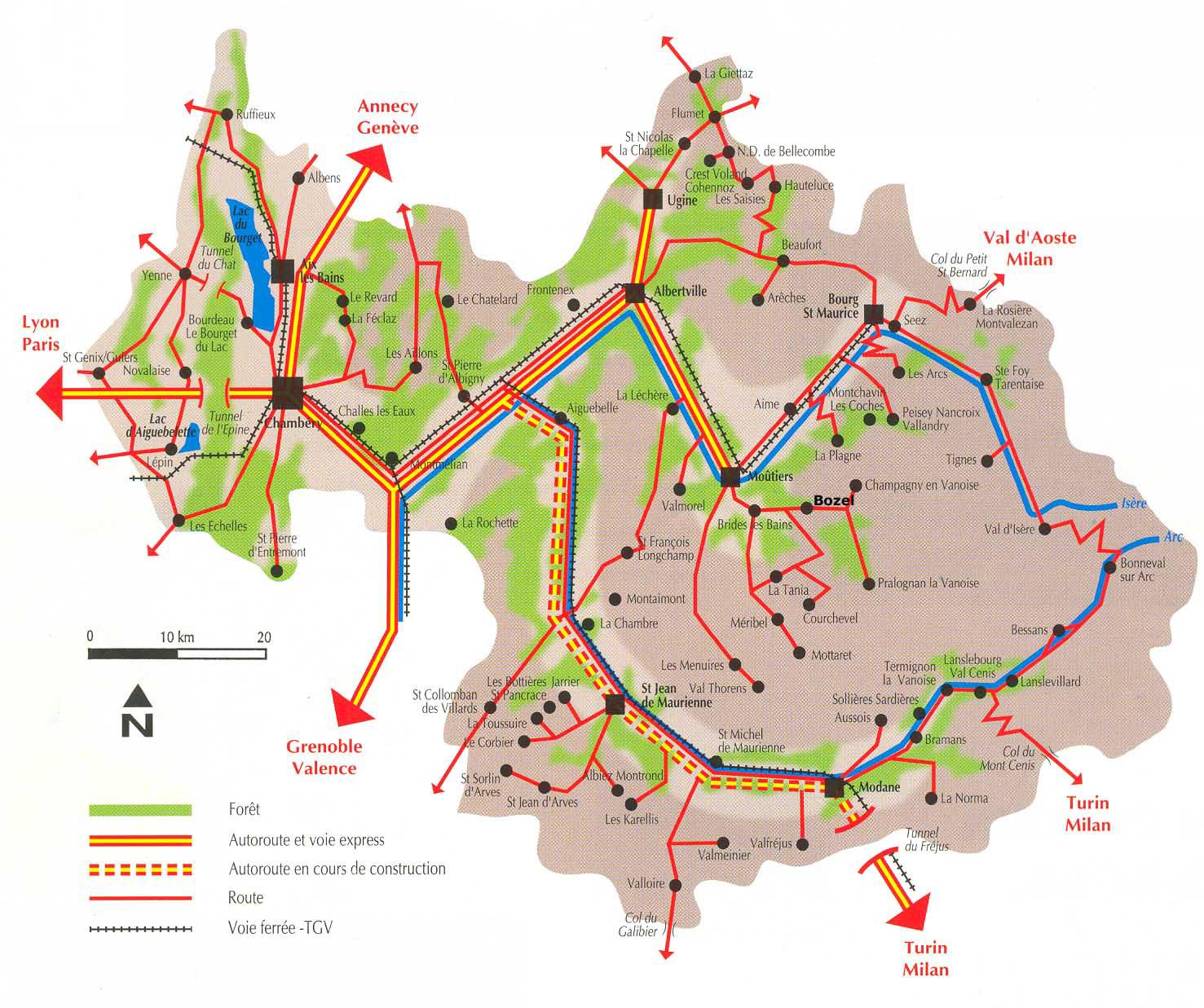 Plan d'accès Courchevel