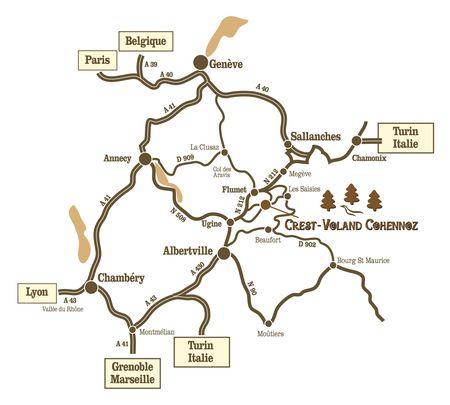 Plan d'accès Crest-Voland/Cohennoz