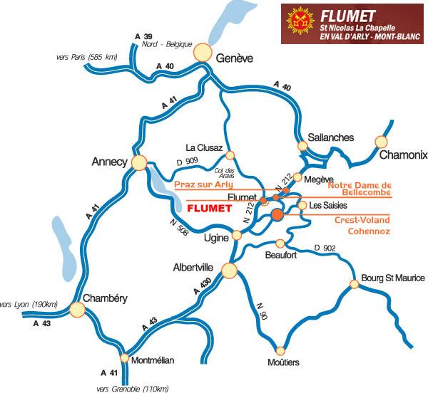 Plan d'accès Flumet