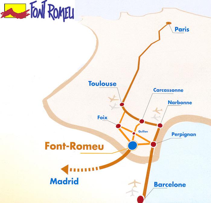 Plan d'accès Font Romeu