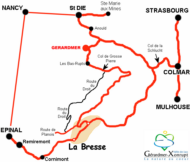 Plan d'accès Gérardmer