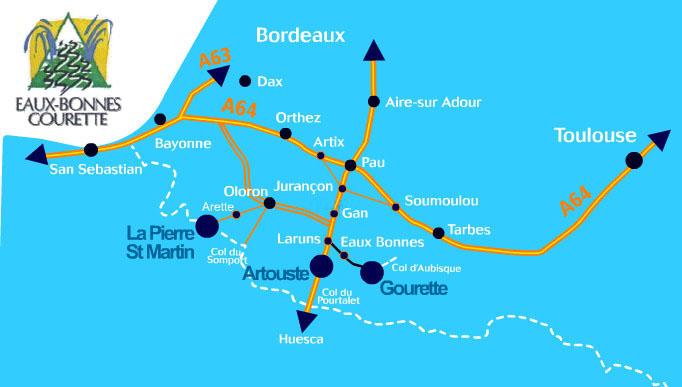 Plan d'accès Gourette