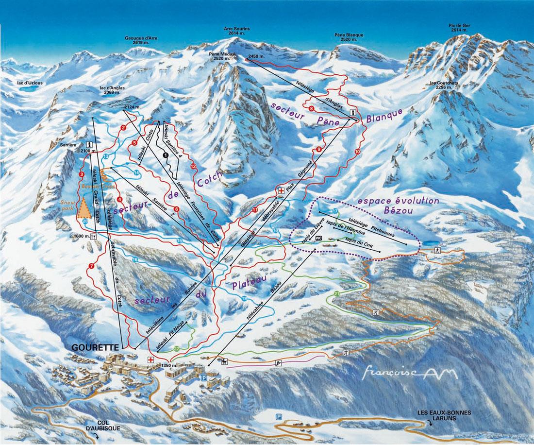 Plan des pistes - Gourette office de tourisme ...