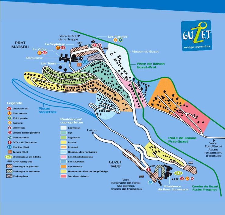 Plan d'accès Guzet