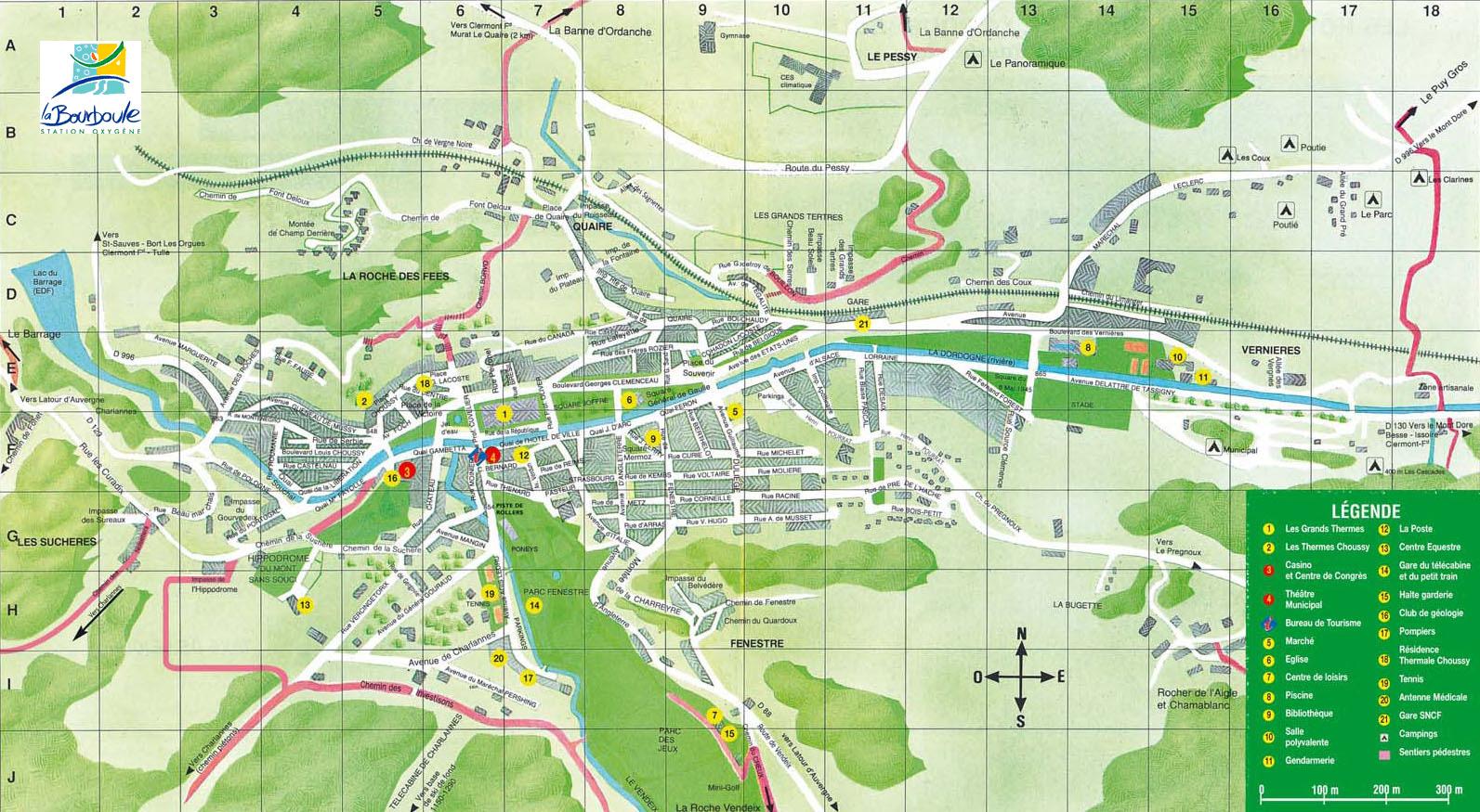 Plan d'accès La Bourboule