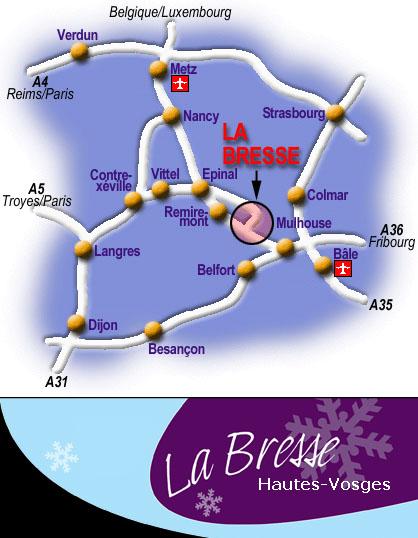 Plan d'accès La Bresse
