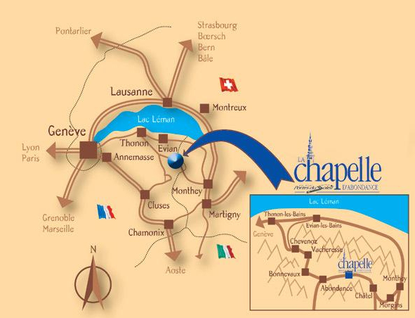 Plan d'accès La Chapelle d'Abondance