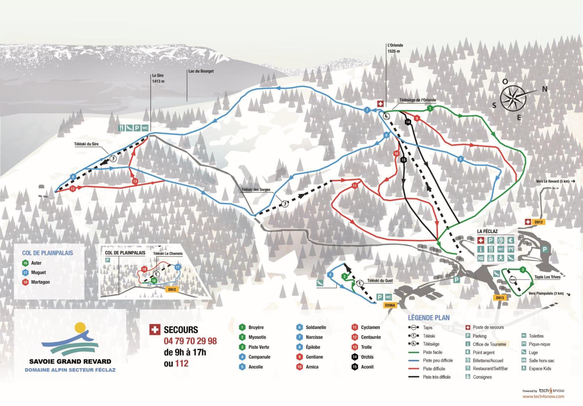 Mapa de las pistas