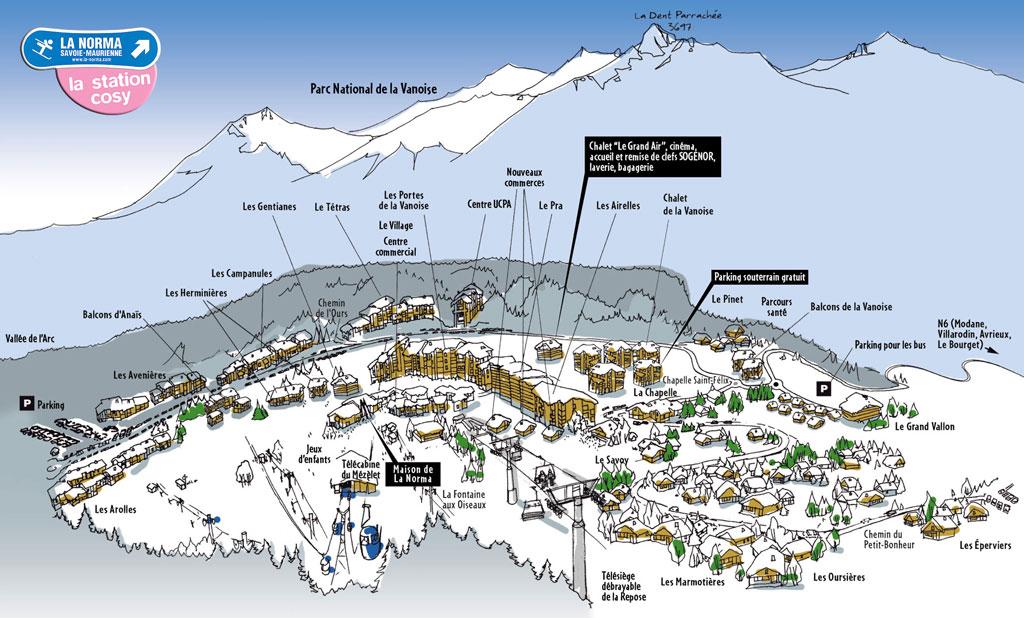 Plan d'accès La Norma