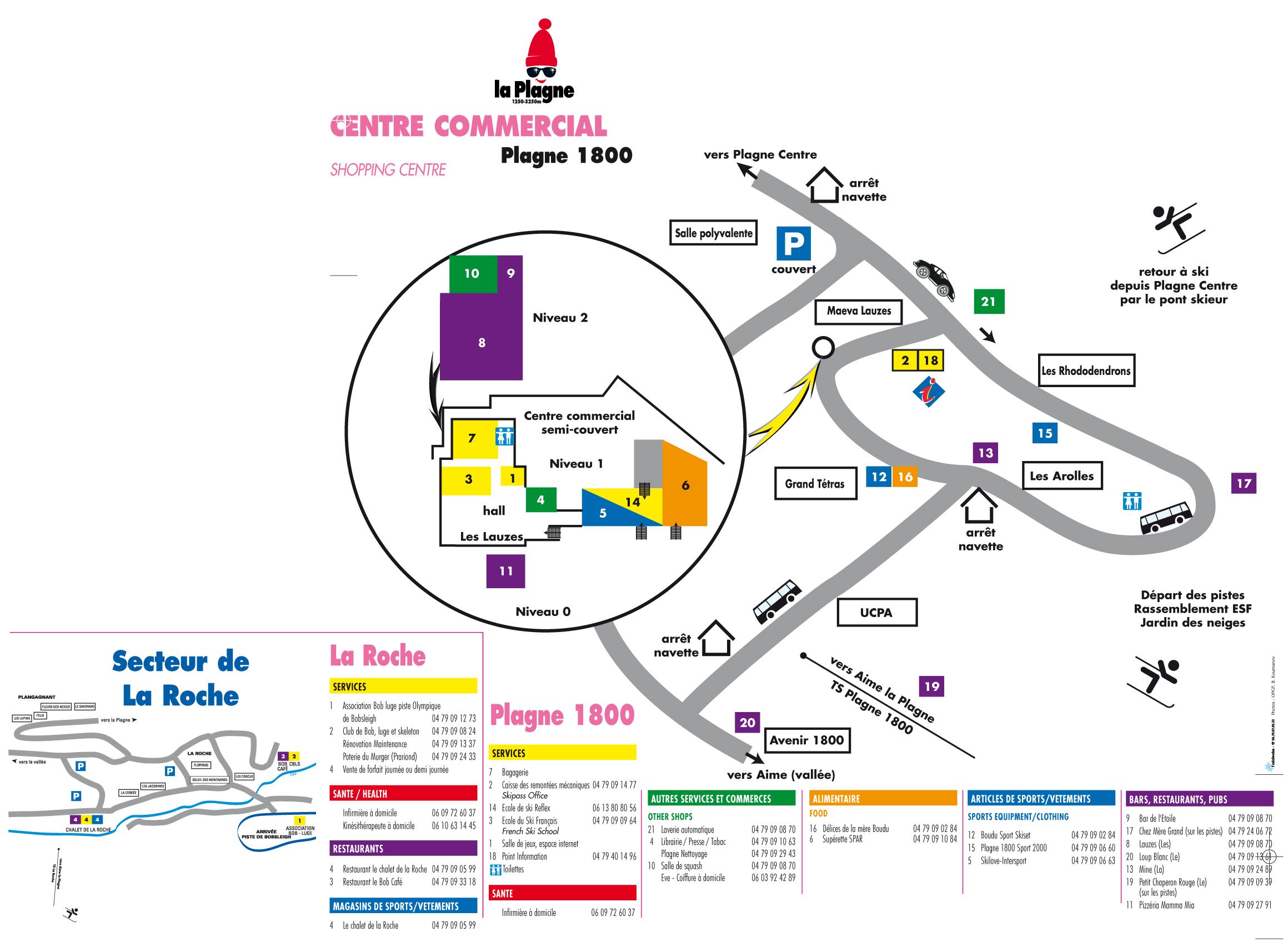 Plan d'accès La Plagne