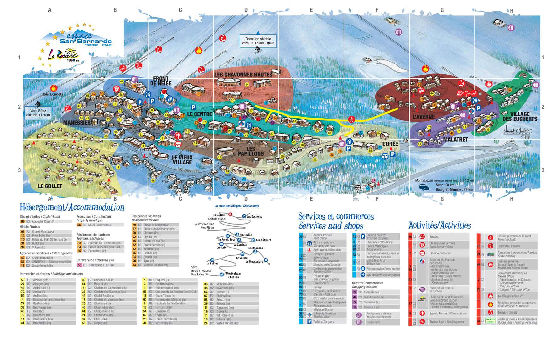 Plan d'accès La Rosière