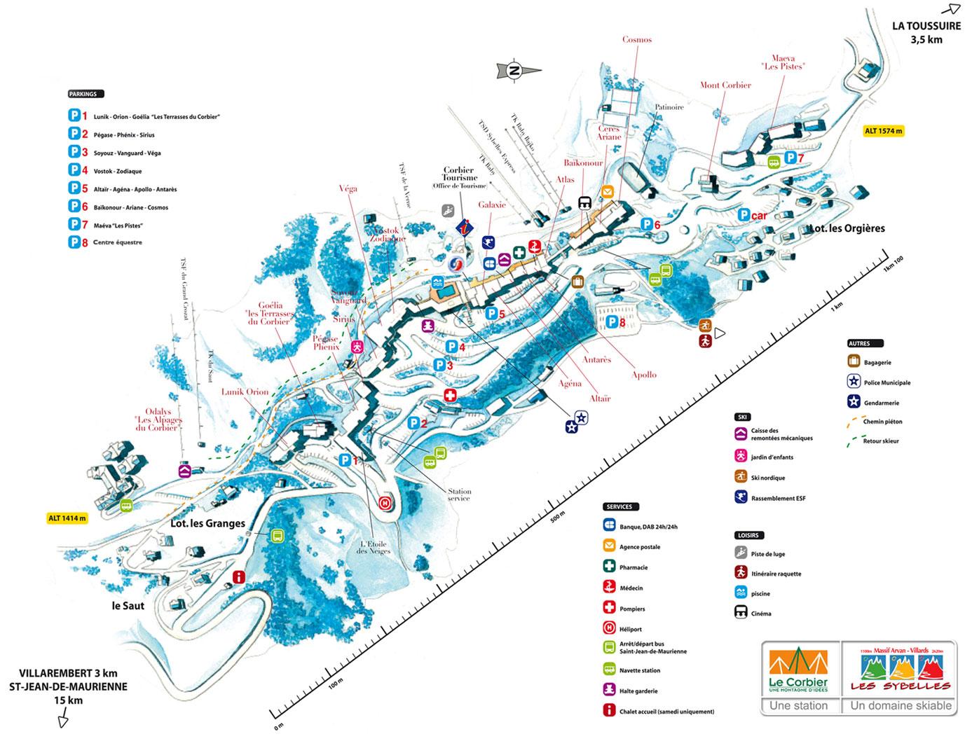 Plan d'accès Le Corbier