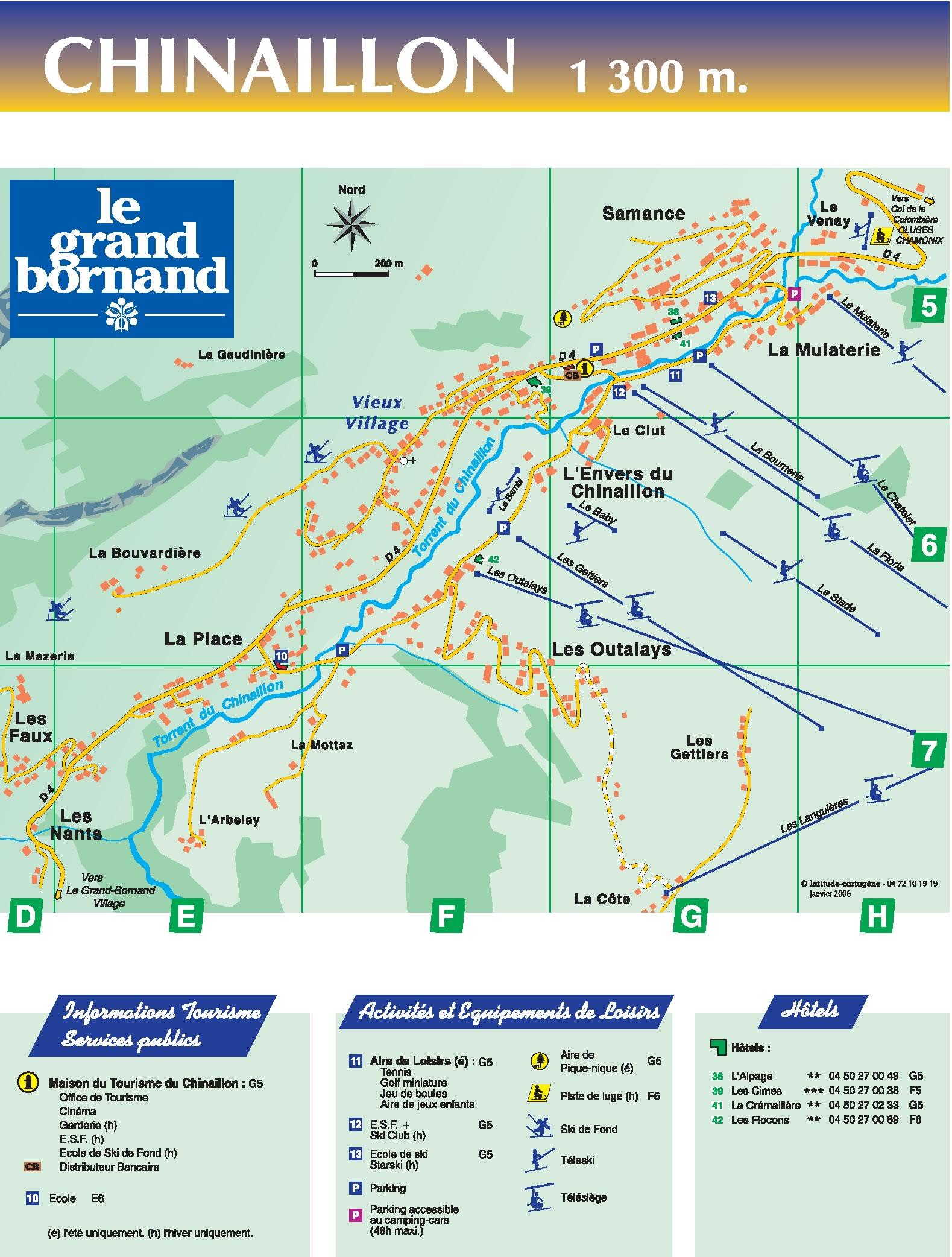 Plan d'accès Le Grand Bornand