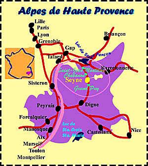 Plan d'accès Le Grand Puy