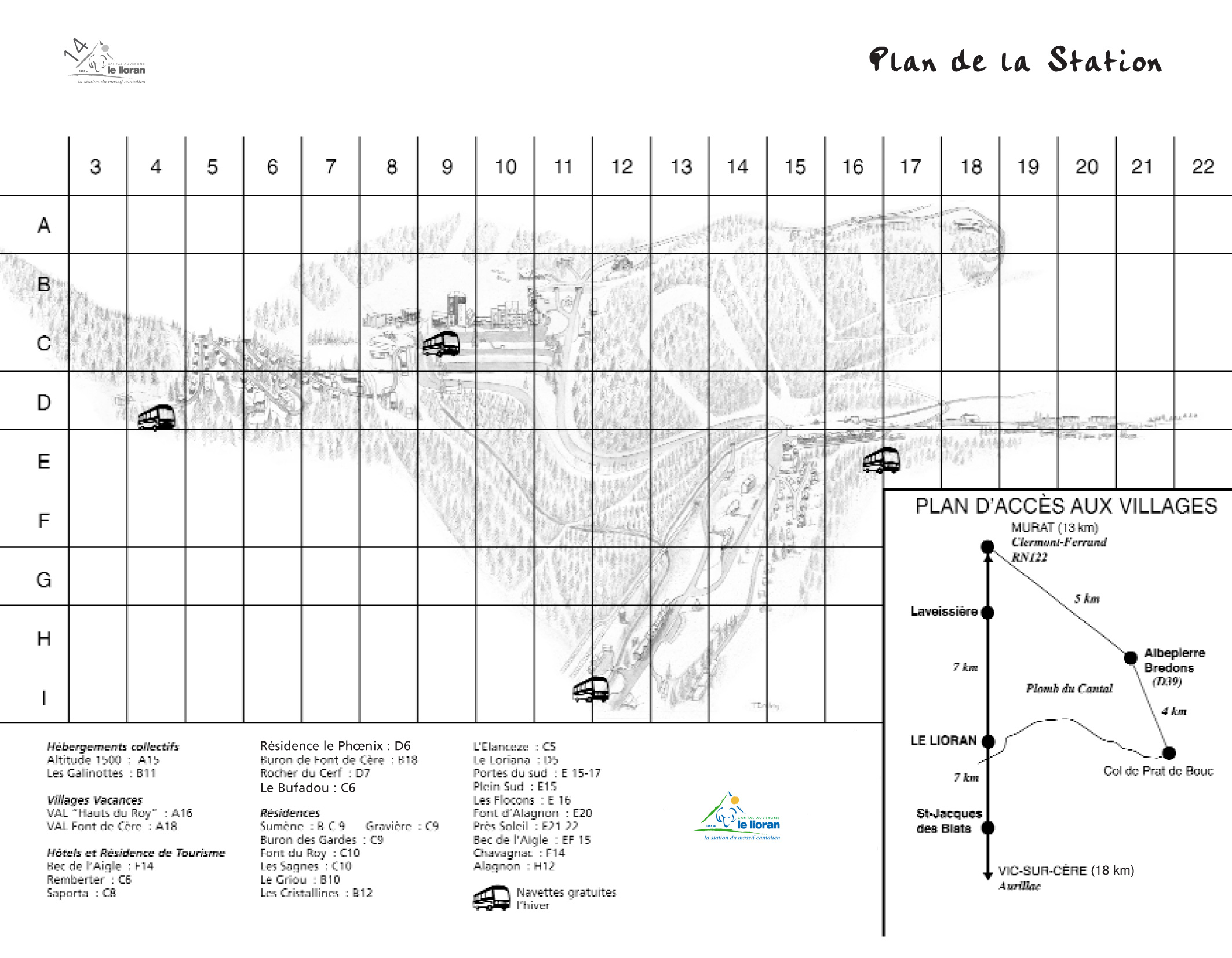 Plan d'accès Le Lioran