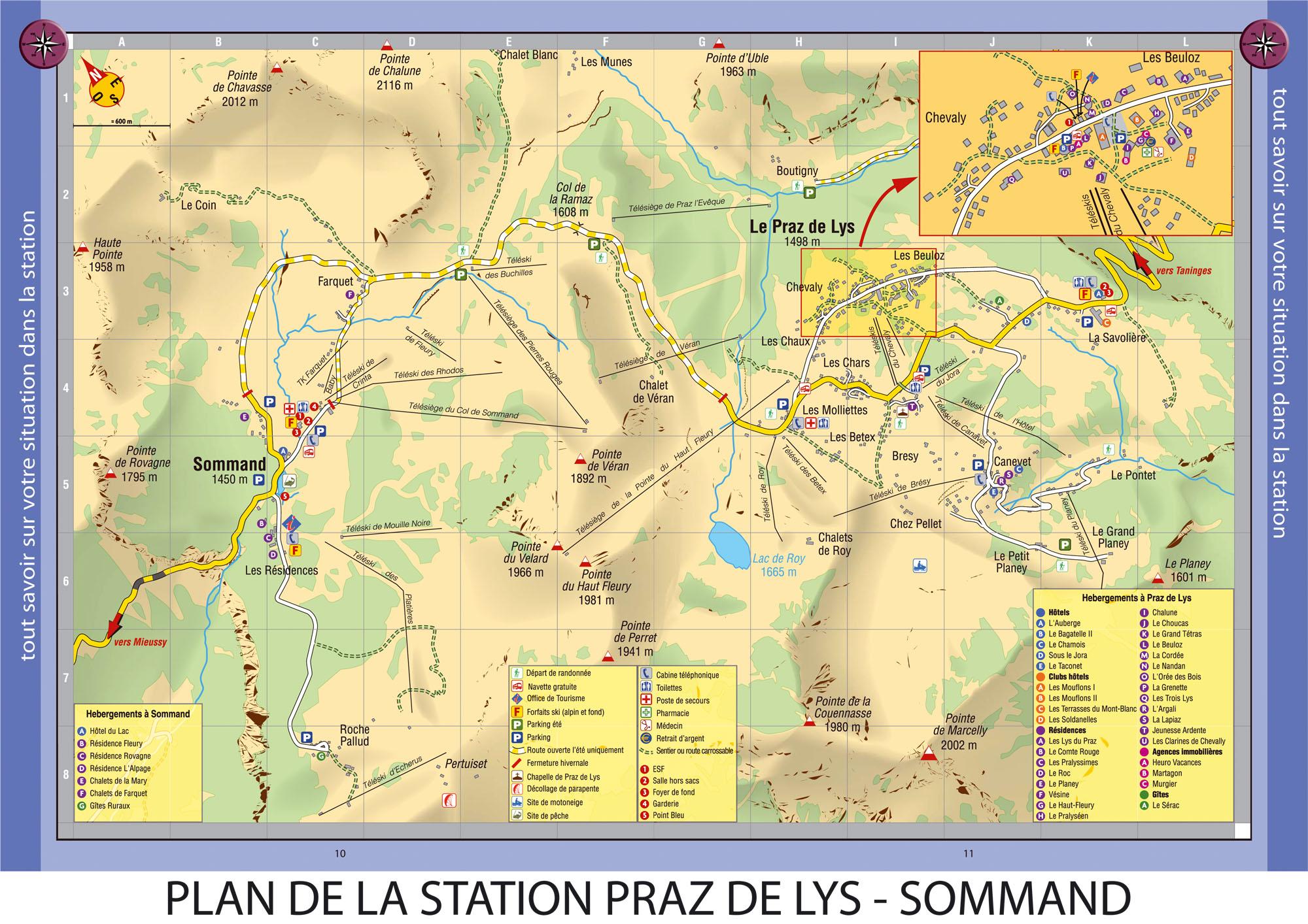 Plan d'accès Le Praz de Lys