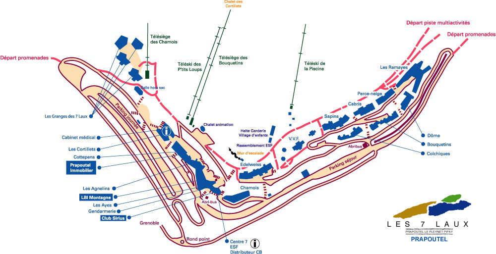 Plan d'accès Les 7 Laux
