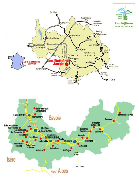 Plan d'accès Les Bottières