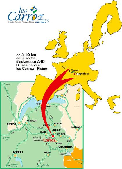 Plan d'accès Les Carroz