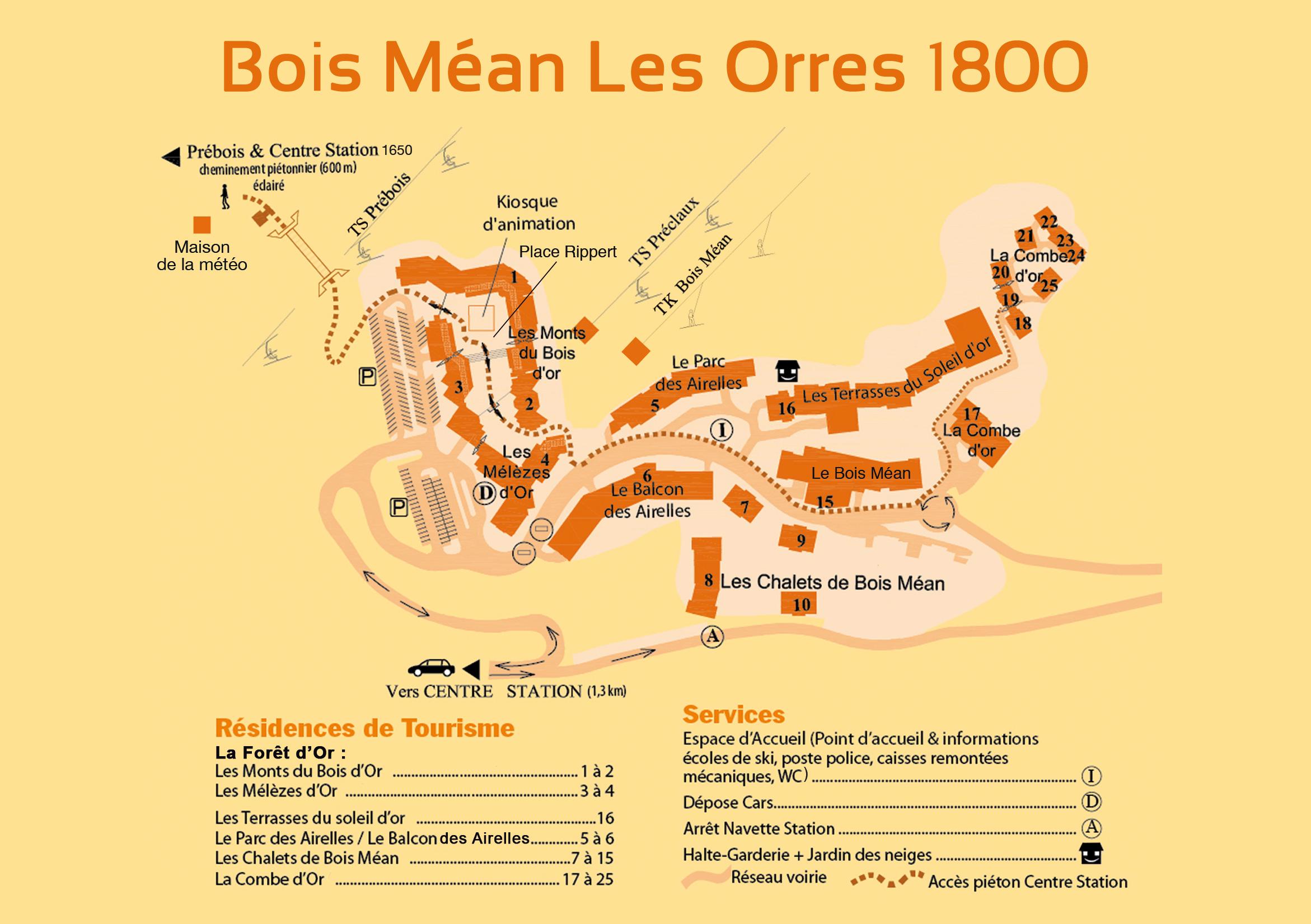 Plan d'accès Les Orres