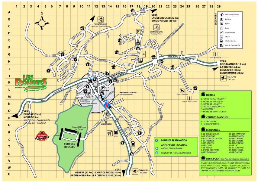 Plan d'accès Les Rousses