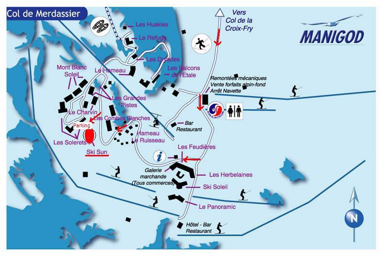 Plan d'accès Manigod l'Etale