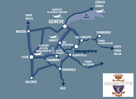 Plan d'accès Megève