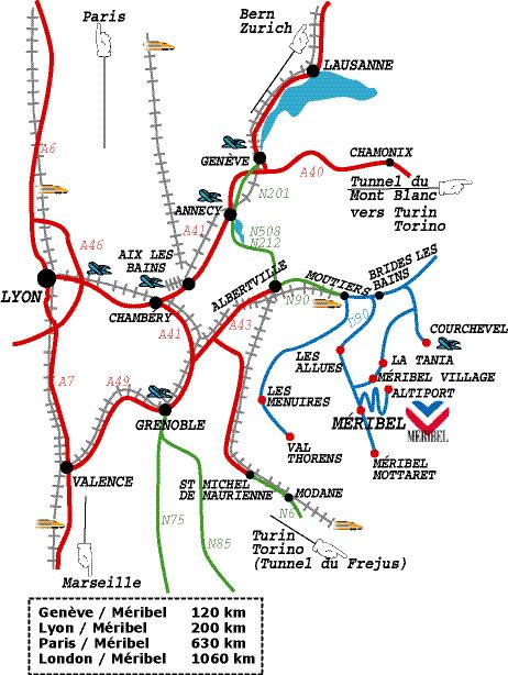 Plan d'accès Méribel