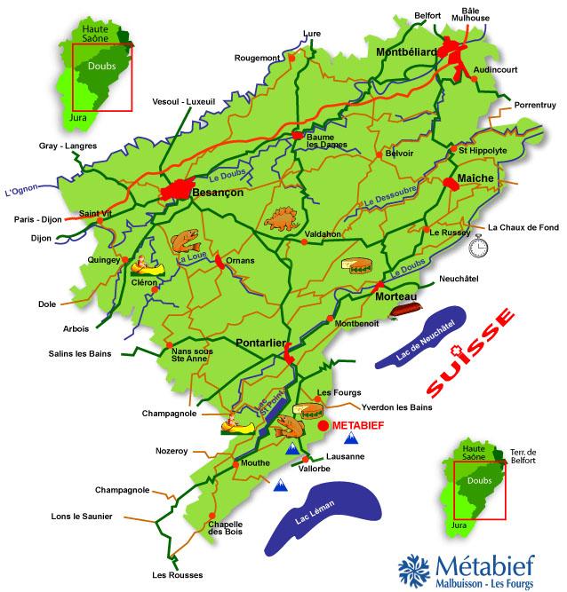 Plan d'accès Metabief