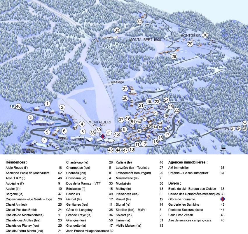 Plan d'accès Montalbert