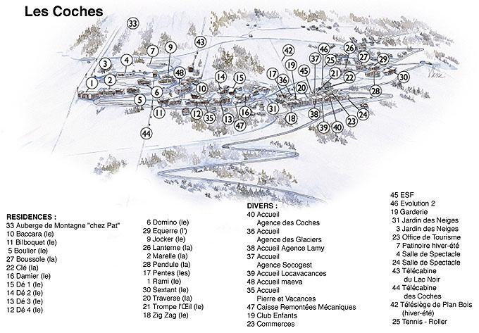 Plan d'accès Montchavin La Plagne