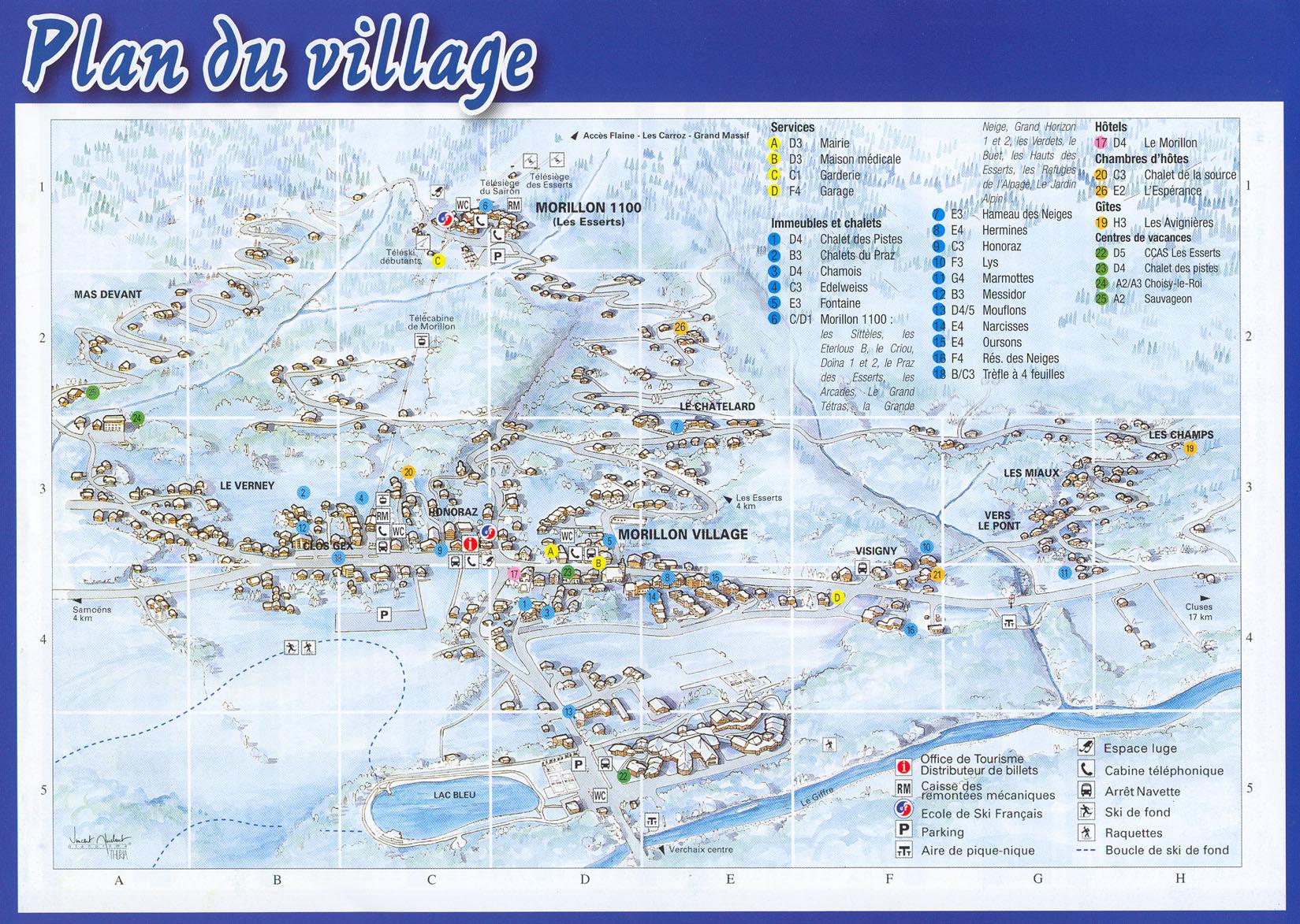 Plan d'accès Morillon