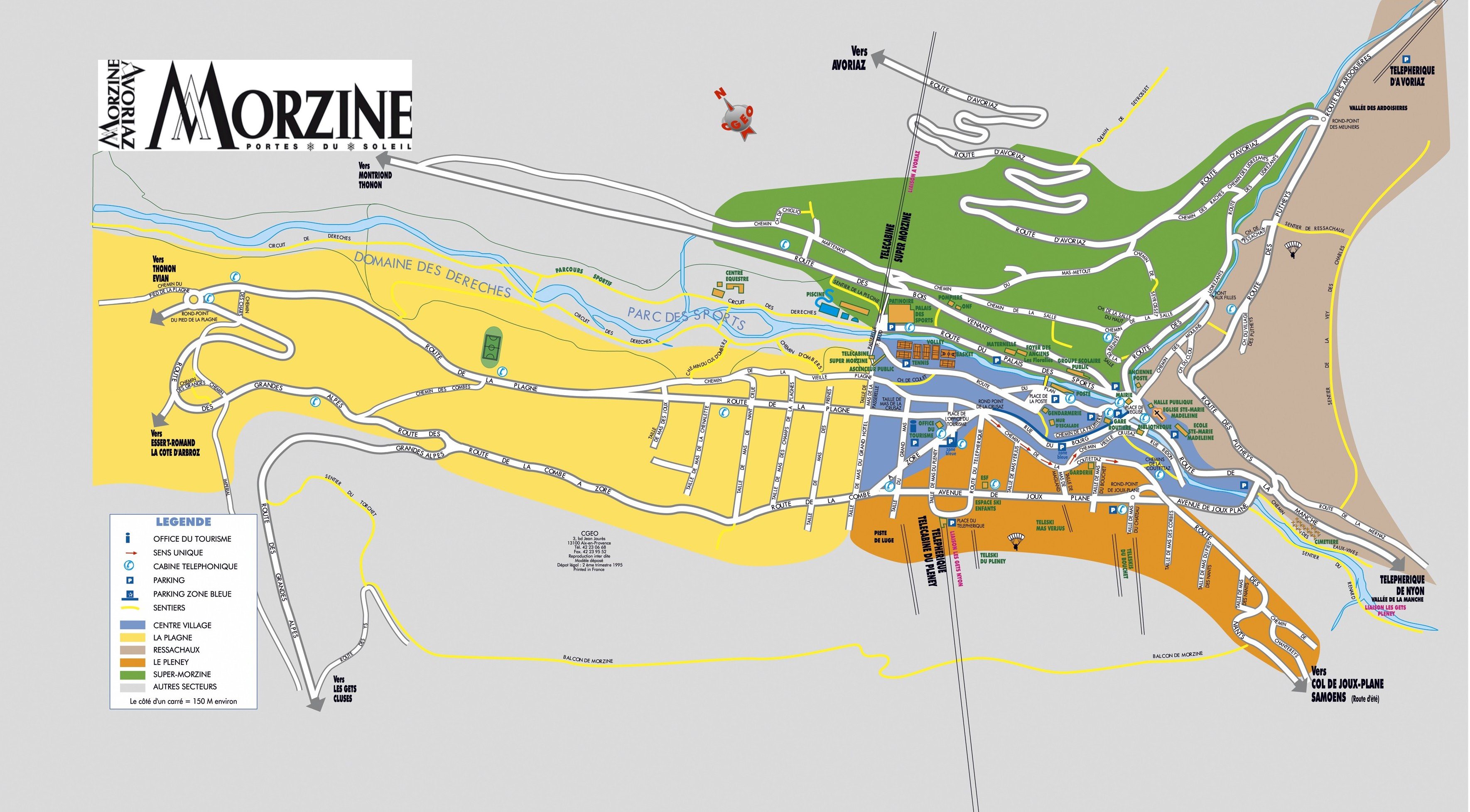 Plan d'accès Morzine