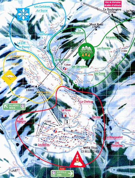 Plan d'accès Notre Dame de Bellecombe