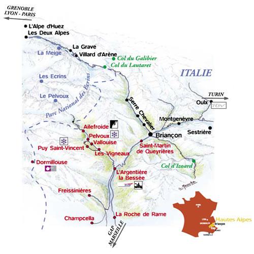 Plan d'accès Pelvoux