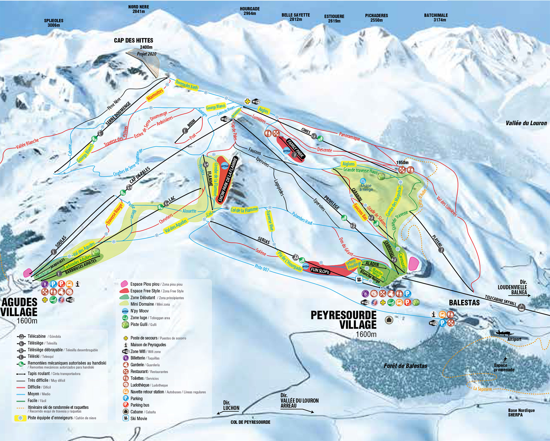 Ski slopes plan